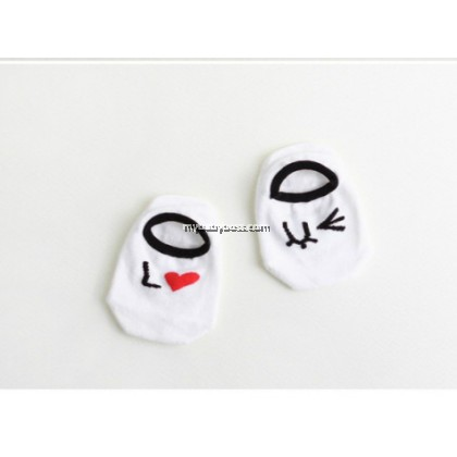 Korean Style Anti-slip Baby Hidden Sock - LOVE