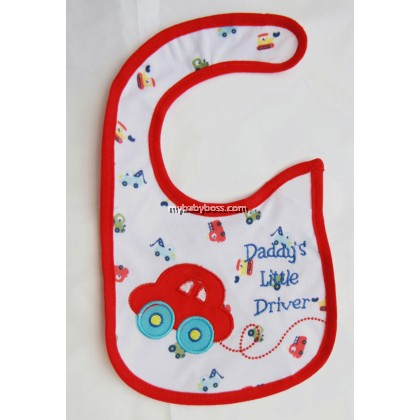 Daddy's Little Driver Bib (Red)
