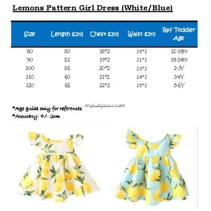 The White Lemon Girl Dress