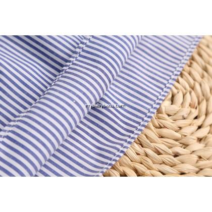 Stripes off_shoulder Flouncing Girls Summer Dress