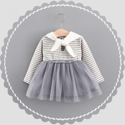 Girl Sailor Long Sleeve Shirt with Tutu Dress