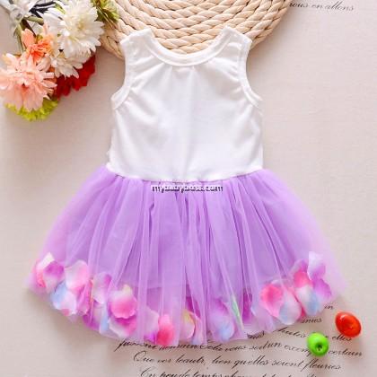 Flower and Petal Girl Tutu Dress