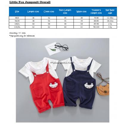 Little Fox Toddler Jumpsuit Set