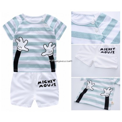 Mickey Helping Hands Clothing Set (Light Blue Straps)