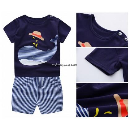 Whale Clothing Set (Dark Blue)