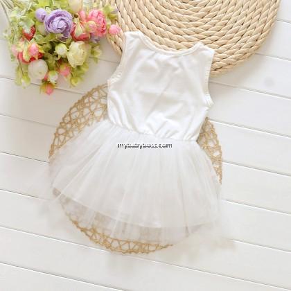 Kitty Cat Girl 2 layered lace Dress (Pink)