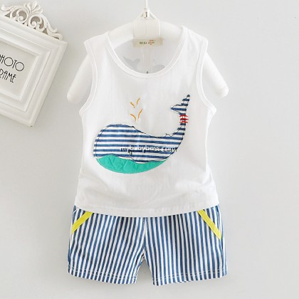 Big Whale Sleevesless Matching Set