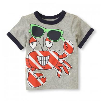Summer Crab Toddler Matching Set (Grey)