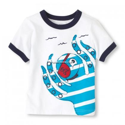 Pirates Octopus Toddler Matching Set (White)