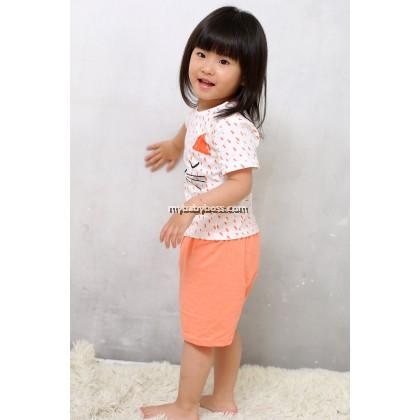Cute Kitten Clothing Set (Orange)