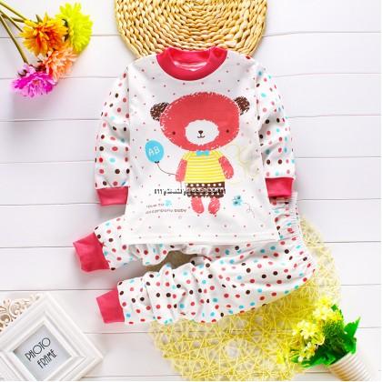 Little Bear Baby Pyjamas (Maroon Red)