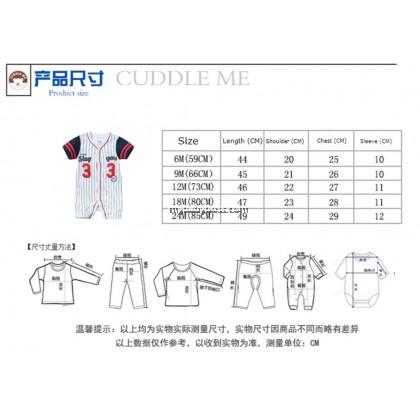 Cuddle Me Daddy's Little All Star 01 Uniform Baby Romper (Blue stripes)