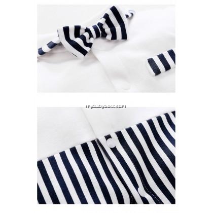 Baby Long Sleeve Bow Tie Romper