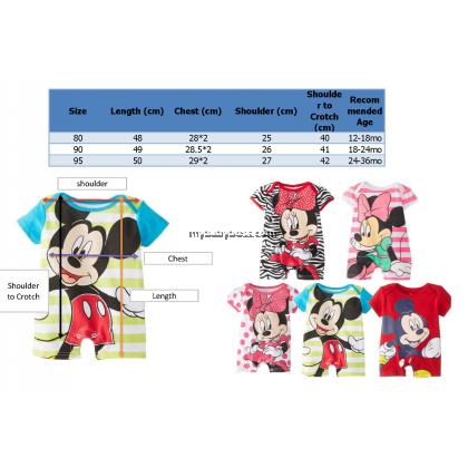 Minnie in Zebra Stripes Baby Bodysuit Romper