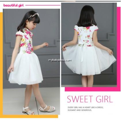 Chinese Style Girl Cheongsam Tutu Dress (B-10)