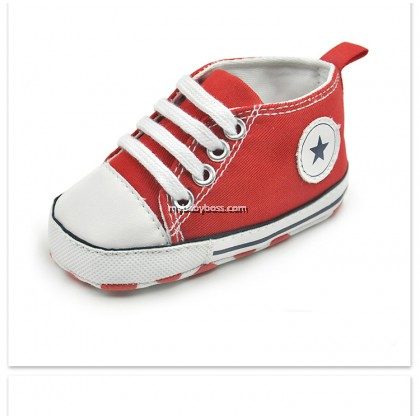 Star Canvas Baby Shoe
