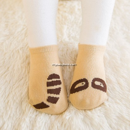 Korean Style Anti-slip Baby Hidden Sock - Raccoon