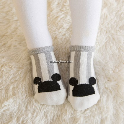 Korean Style Anti-slip Baby Hidden Sock - Mickey