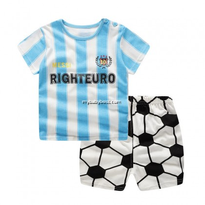 FM00262 Little Footballer Matching Set (Blue Stripes)
