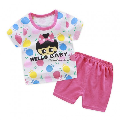 FM00266 Hello Baby Girl Matching Set (Pink)