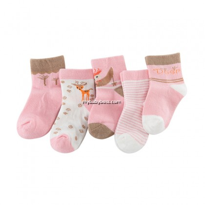 FS299 Jungle Fawns Toddler socks