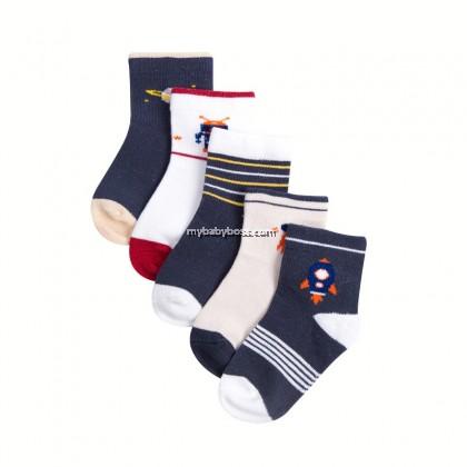 FS303 Space Rocket Toddler socks