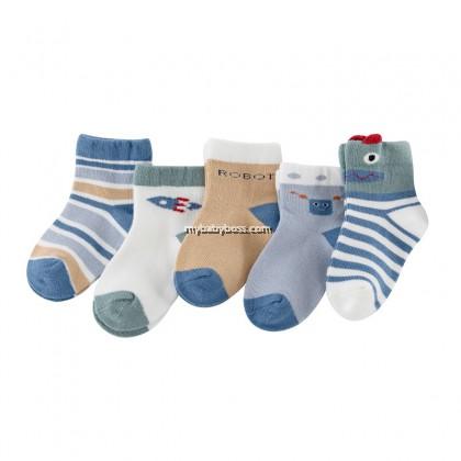 FS305 Robot & Rocket Toddler socks