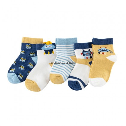 FS308 Robot & UFO Toddler socks