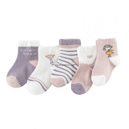 FS309 Fairy & Magic Wand Toddler socks